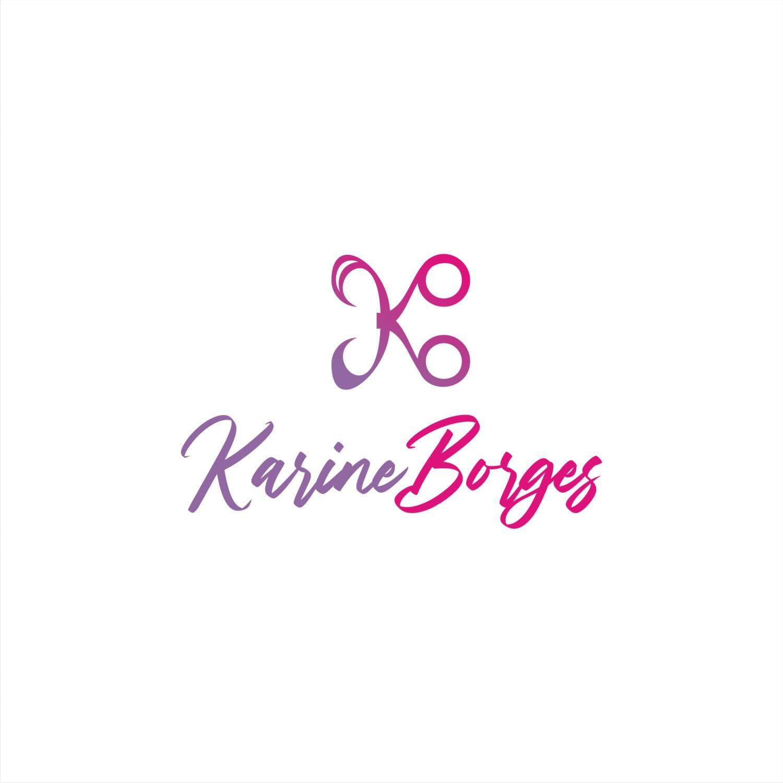 A ideia desenvolvida para a marca karine Borges procura fugir do lugar comum das marcas com síntese visuais de cabelos e faces femininas. O caminho original escolhido foi o de sintetizar uma tesoura, em forma de K, ao mesmo tempo em que lembra também um B fundido ao elementos. Suas pontas, aí sim, remetem a formas sinuosas de mechas capilares, mas num caminho diferenciado. E para conferir personalidade à marca, que é o nome da empreendedora, usou-se uma tipologia cursiva, como se fosse uma assinatura. O conjunto harmonioso é original e demonstra também a personalização do toque pessoal da dona da marca, que é a principal profissional atuando no negócio. Uma marca que reflete a dimensão do negócio, sem exacerbar suas características: é um negócio carinho, afetivo e pequeno, não um grande salão no qual as clientes nem tem contato com o dono.
