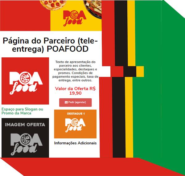 página do parceiro poafood tele entrega porto alegre ifood rappi uber eats entrega solução completa sem taxas