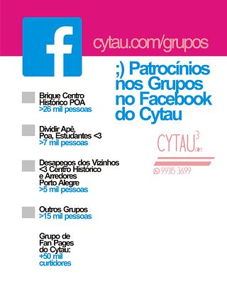 Cytau.com colabora com novos projetos de mídia independente - patrocínio grupos facebook cytau
