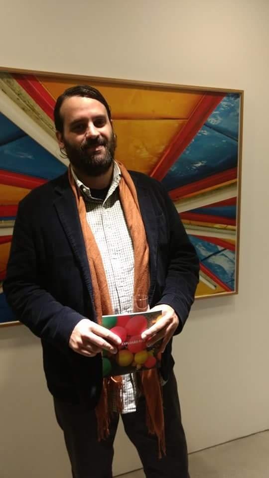 Daniel Wagner na exposição de José Patrício no Instituto Ling